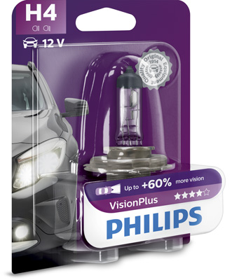 Лампа H4 PHILIPS Vision Plus